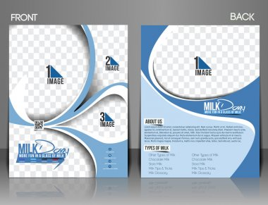 Milk Store Front & Back Flyer Template.