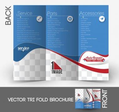 Automobile Center Tri-Fold Mock up & Brochure Design