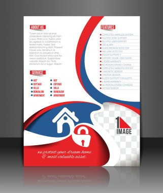 Home Security Center Flyer Template