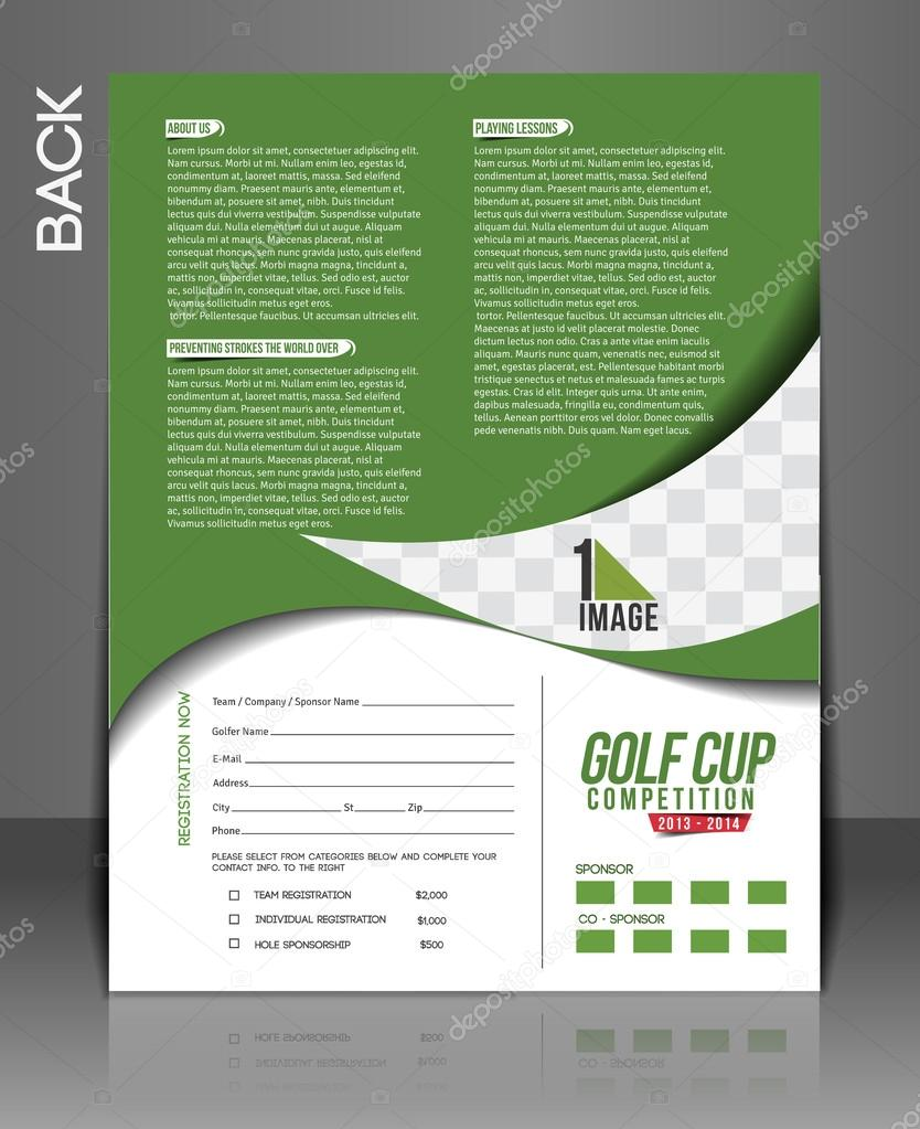 Golf Tournament Flyer Stock Vector C Redshinestudio 44569583