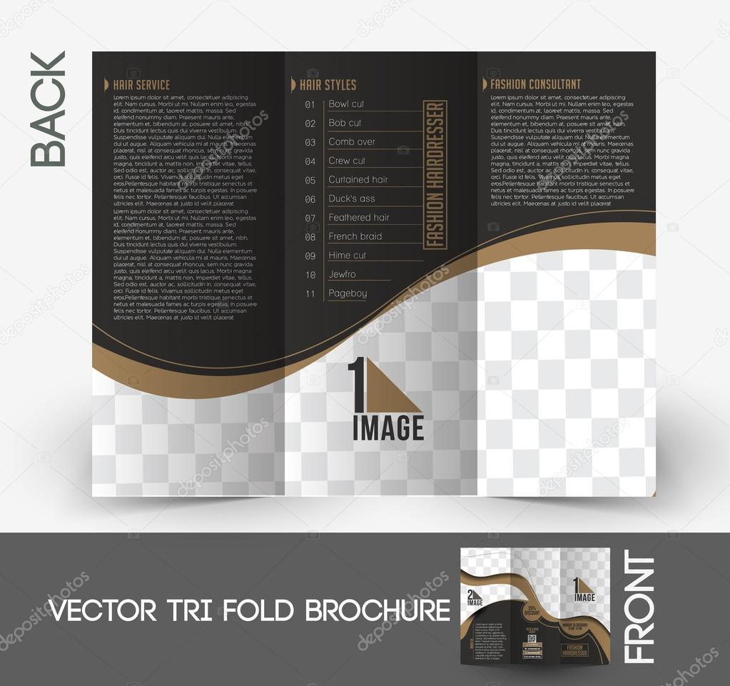 Mode-Friseur-Broschüre — Stockvektor © redshinestudio #45415925