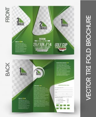 Golf Tournament Tri-Fold Brochure