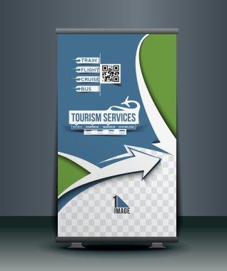 Travel Agent Roll Up Banner Design