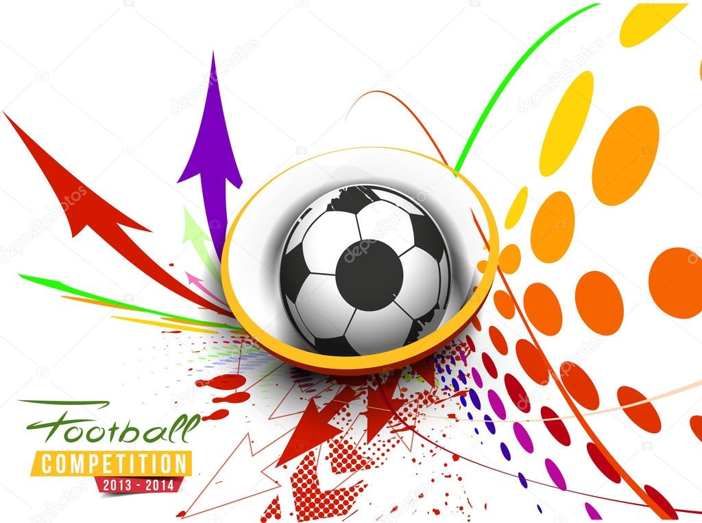 Depositphotos Stock Illustration Football Event Poster Soccer Tournament