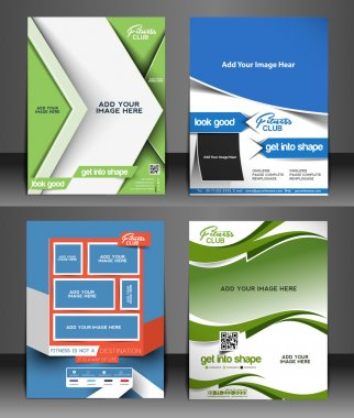 Fitness Center Front Flyer & Poster Template