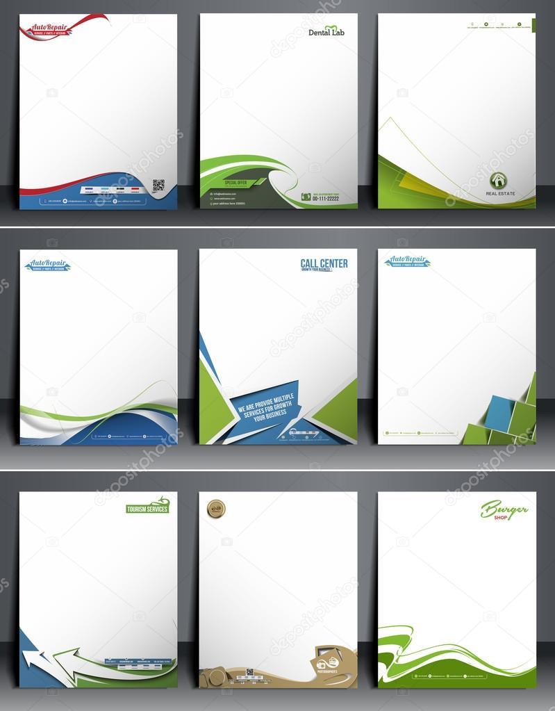 Nine Business Style Corporate Identity Leterhead Template