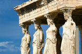 Photo Caryatid sculptures, Acropolis of Athens, Greece