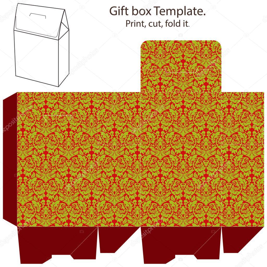 plantilla caja de regalo — Vector de stock © yaskii #13258022