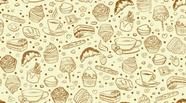 coffee cupcake pattern
