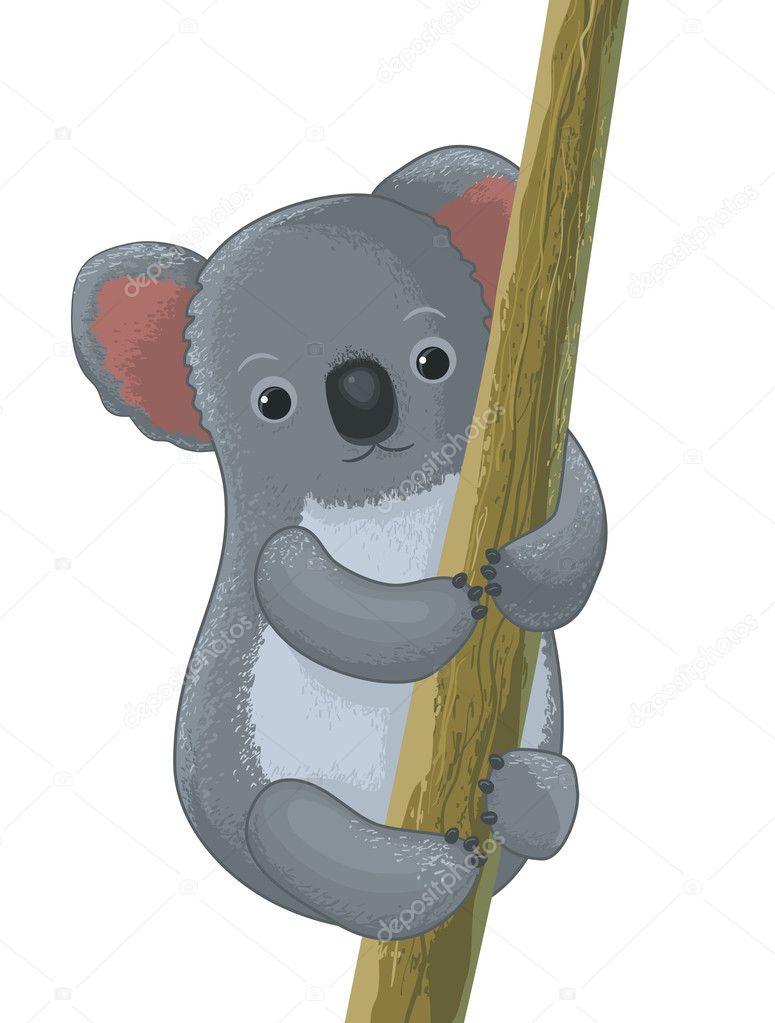 Personaggio dei cartoni animati di koala u vettoriali stock
