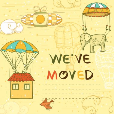 we have moved card