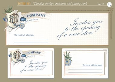 Template invitations and greeting cards