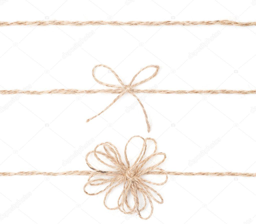 arco de cuerda coleccin de envoltura de yute para regalo cerrar foto de - Cuerda De Yute