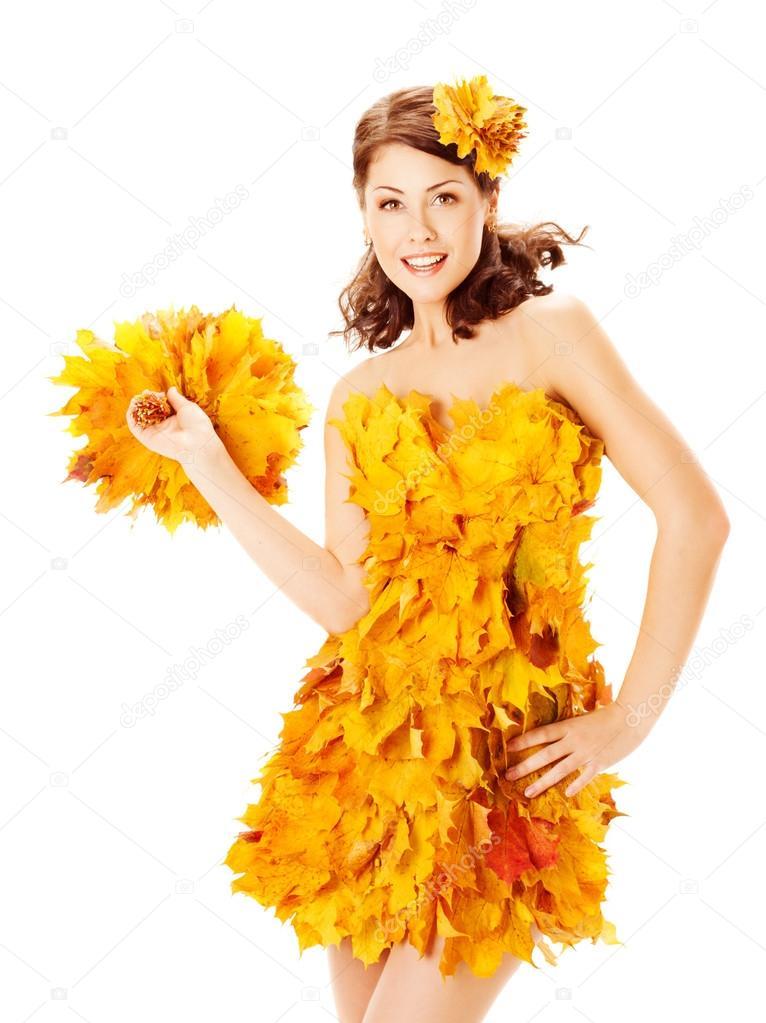 Платья из кленовых листьев