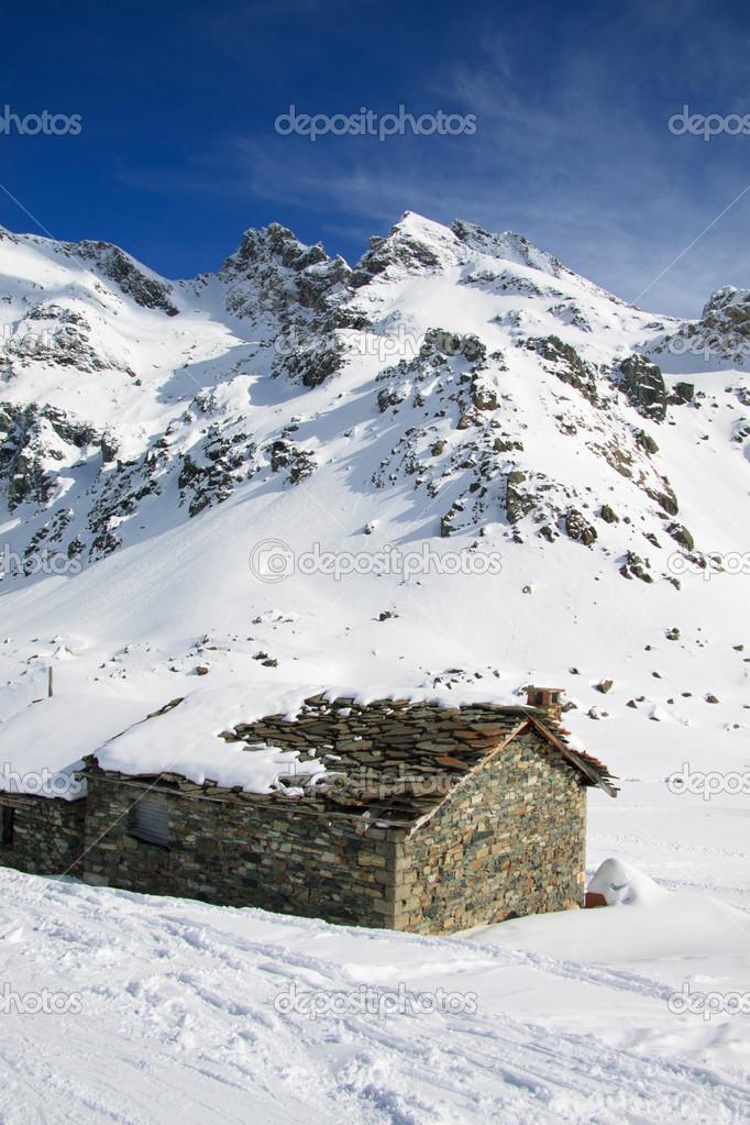 Gressoney valley in winter