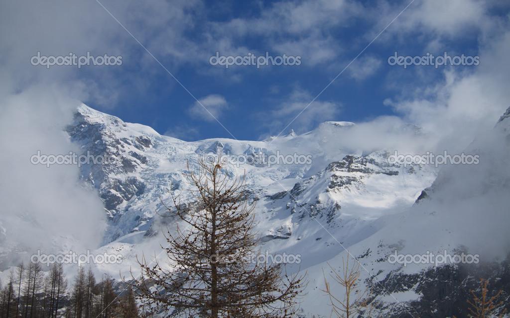 Monte Rosa from Gressoney valley