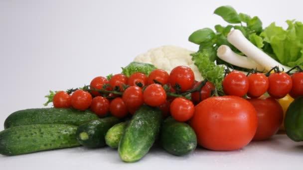 választék a friss zöldségek közelről