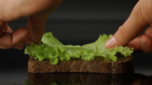 Příprava sendvič
