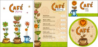 Templates for corporate style for cafe