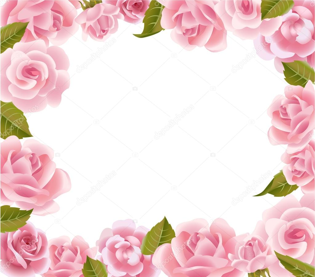 tarjeta de felicitación del marco rosas — Vector de stock © azzzya ...