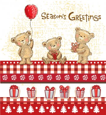 Cute bears, seasons greetings.