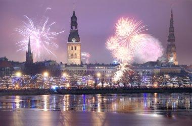 Salute in Riga.