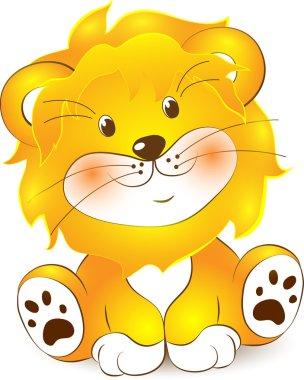 Illustration of Lion cartoon