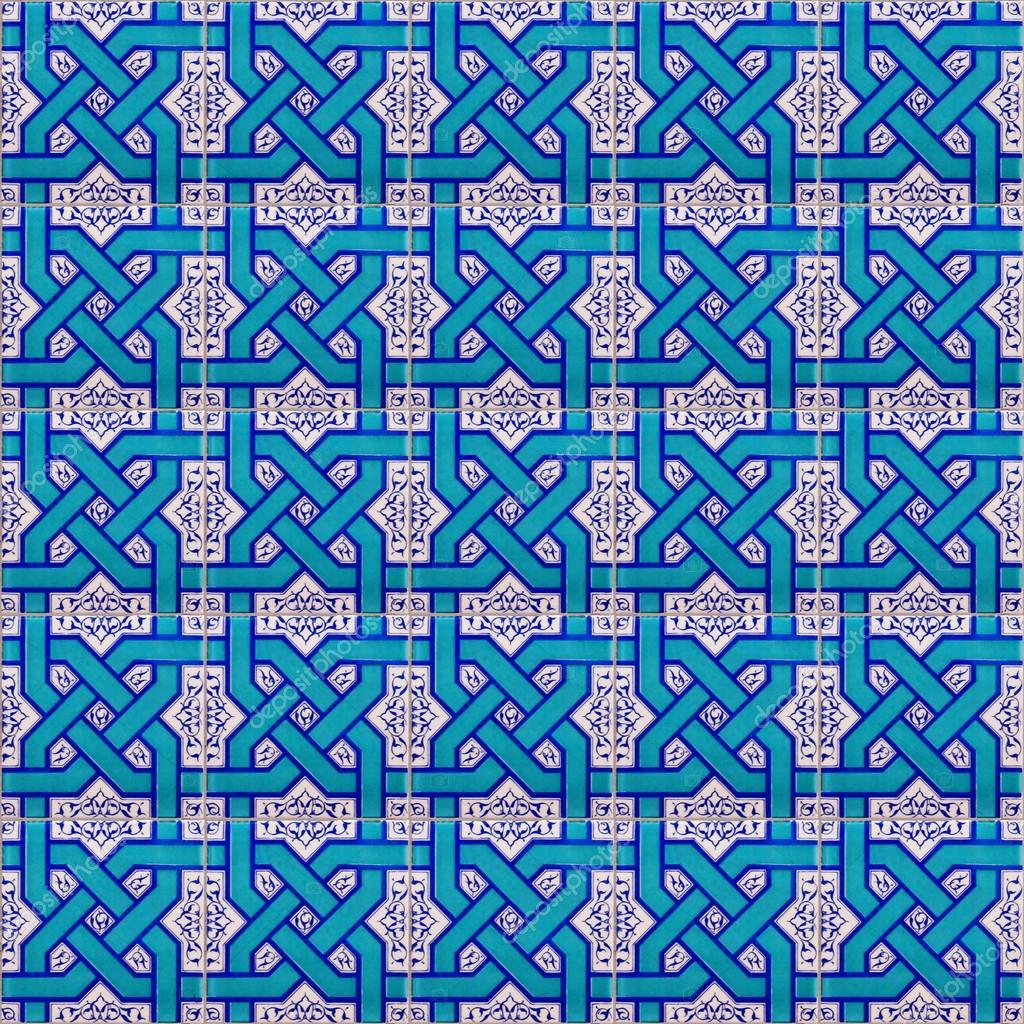 seamless ceramic islamic tiles — Stock Photo © Tonygers #20723001