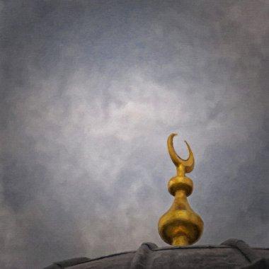 Islam Moon Painting