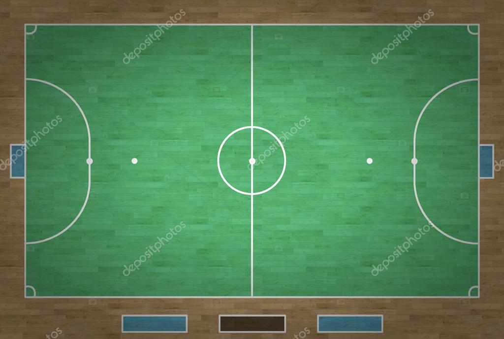 Dibujo cancha de futbol sala