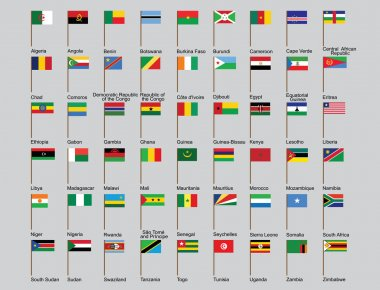 African countries flags