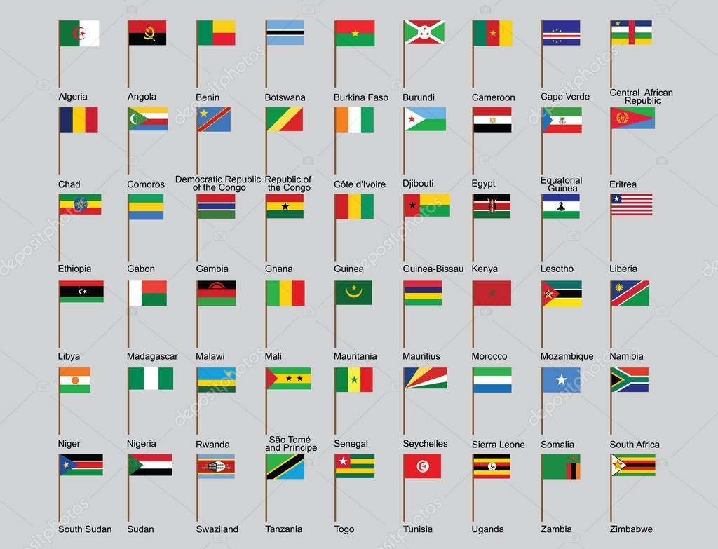 флаги африки фото с названием впечатления международного