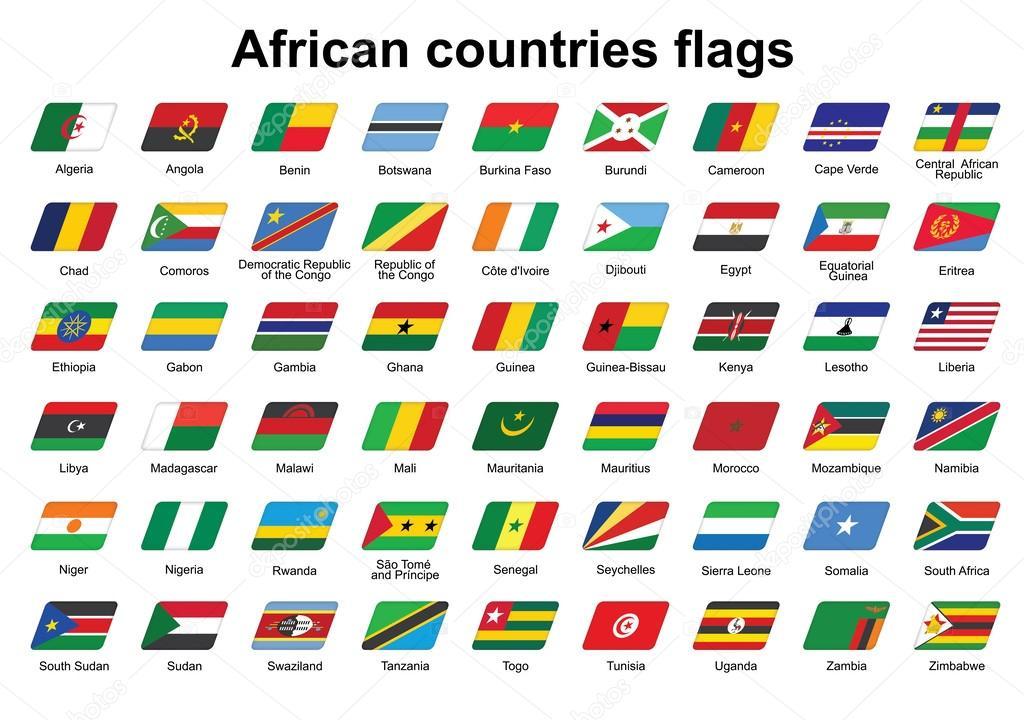 флаги африки фото с названием маникюра короткие круглые