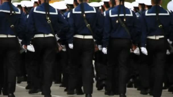 Troops on parade