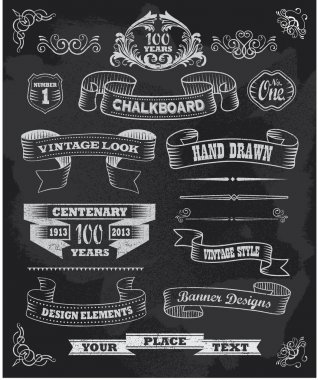 Blackboard Chalkboard Design Elements