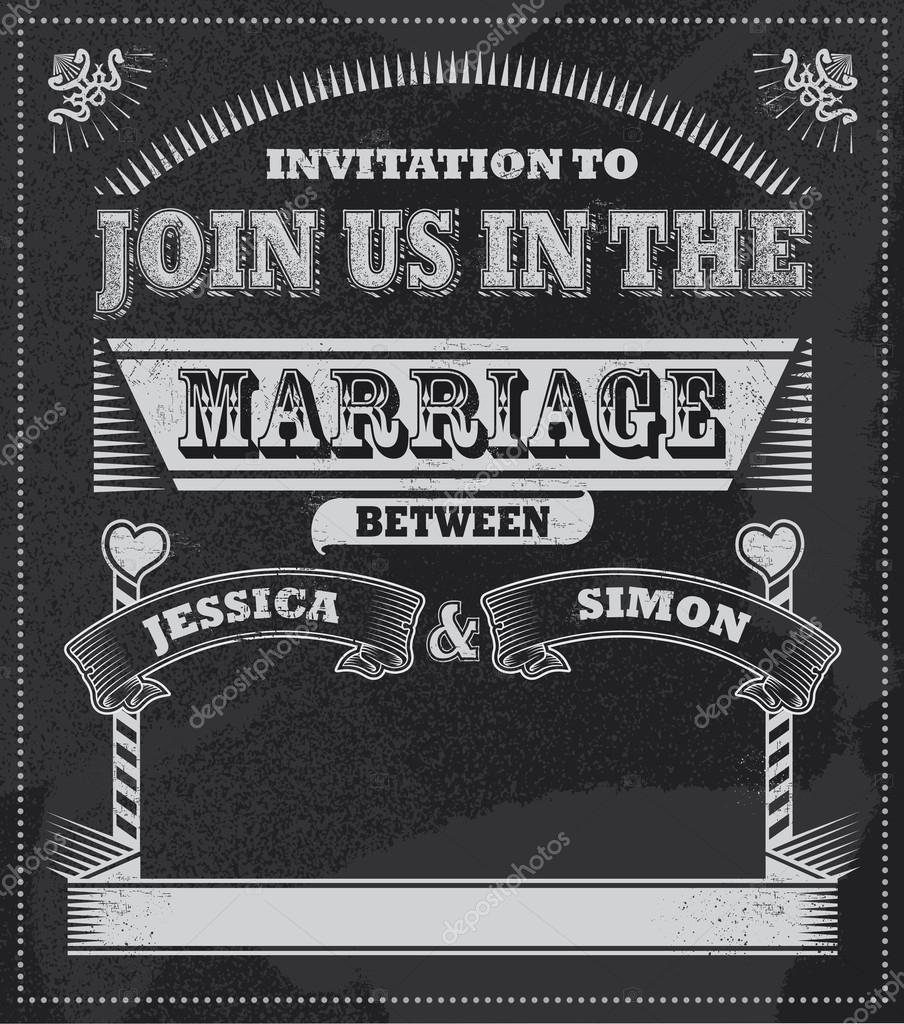 Einladung Zur Hochzeit Tafel. Tafel Vektor Design. Abnehmbare  Strukturierten Hintergrund U2014 Vektor Von Rtguest