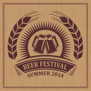 Beer festival icon symbol