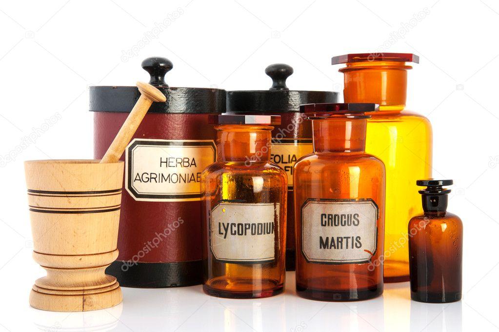 Potenci Metros Do Botic Rio Com Ingredientes Para M Dicos Stock