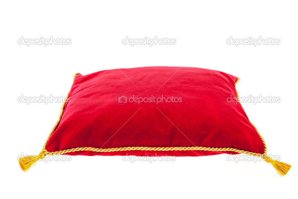 Coussin de velours rouge royal photo 22653727 - Coussin velours rouge ...