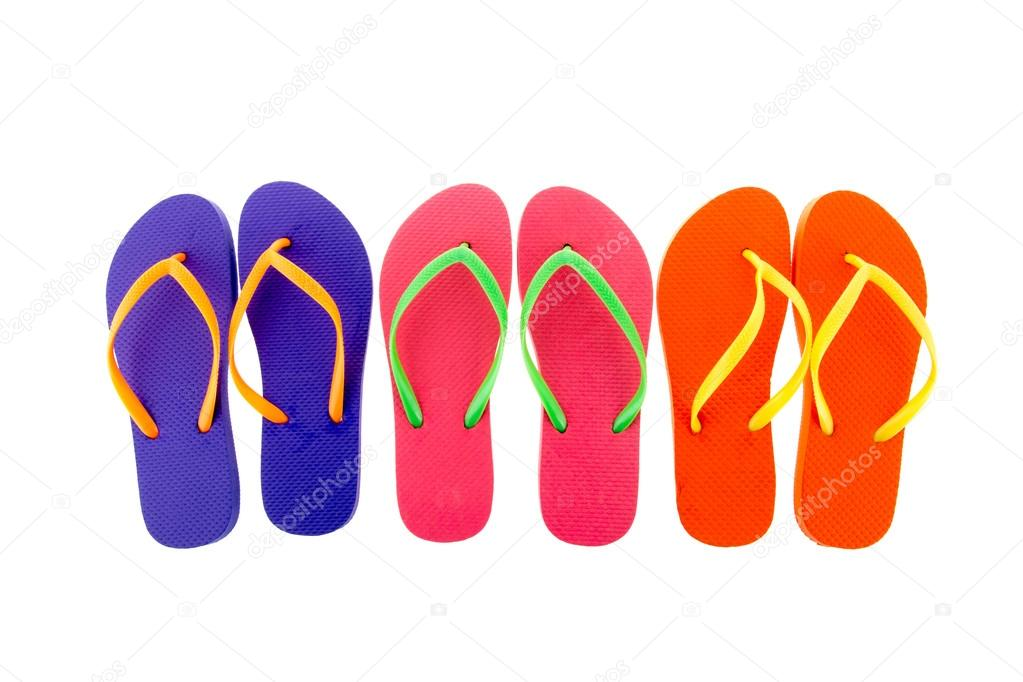 8ae55c276a5b63 Colorful flip flops — Stock Photo © ivonnewierink  50739507