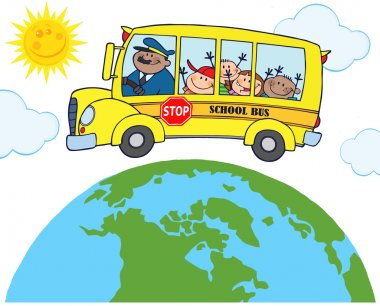 School Bus Around Earth