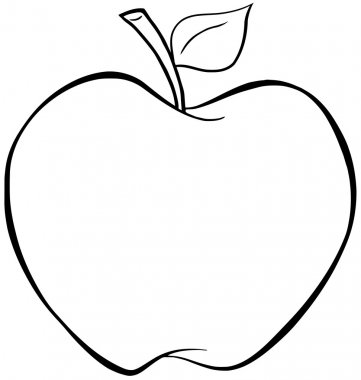 Outlined Apple