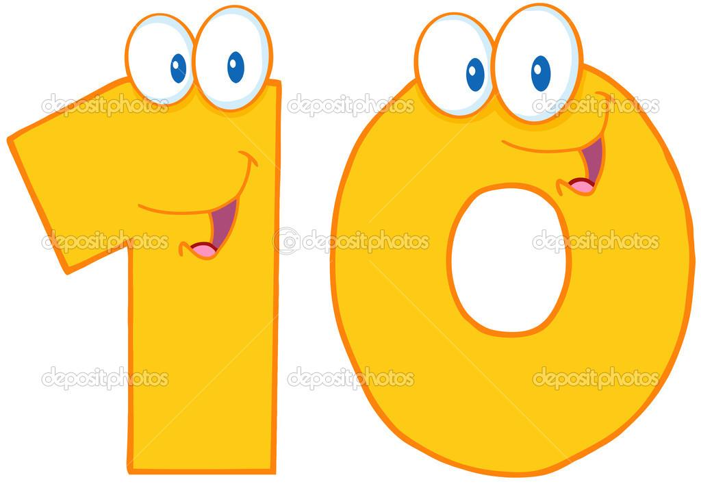 Numero 10 Con Imagenes: Foto De Stock © HitToon #12492279