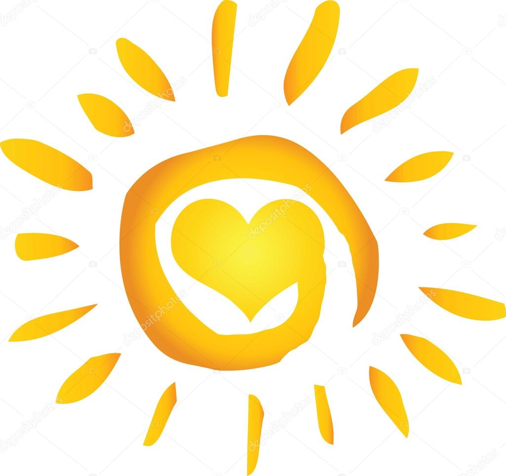 Summer Hot Abstract Sun With Heart