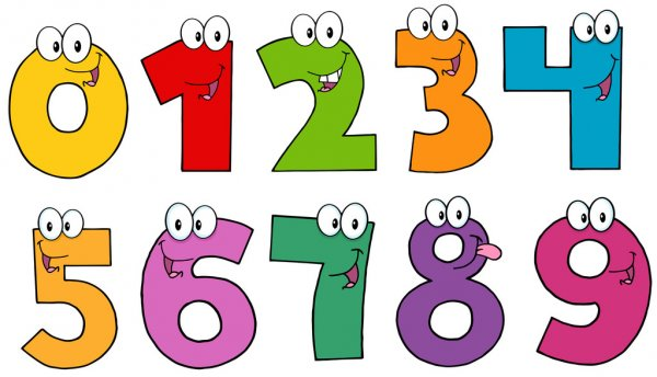 Funny Numbers Cartoon Mascot Characters .Collection