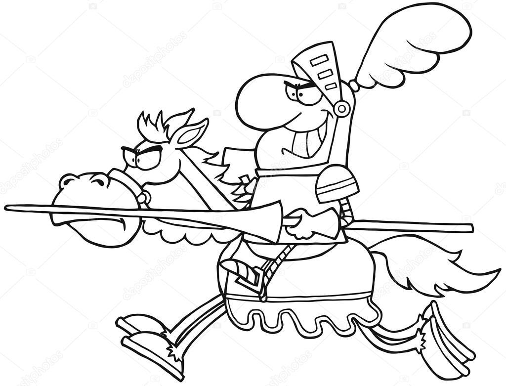 contorneado caballero caballo — Foto de stock © HitToon #13370029