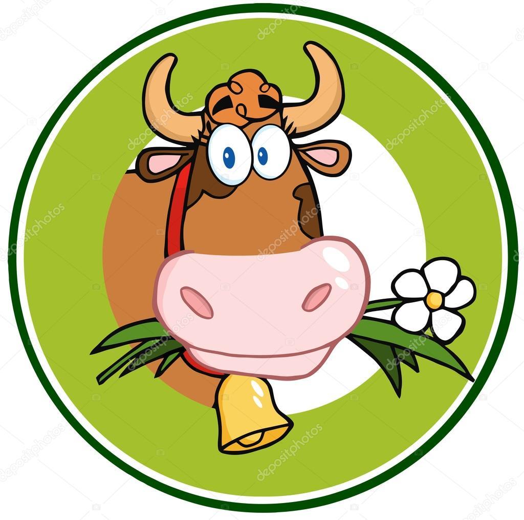 dairy cow cartoon logo mascot banner u2014 stock photo hittoon 20159333