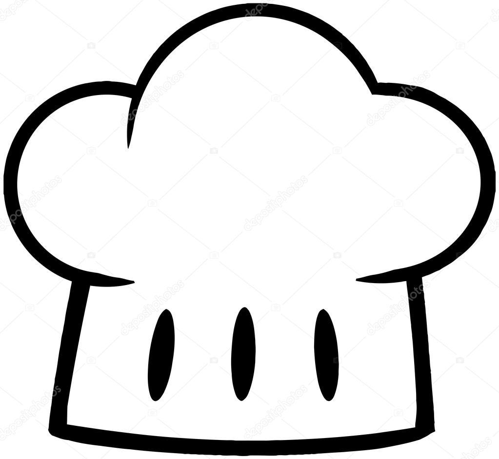 Gorro de chef contorneado foto de stock hittoon 21152999 - Dibujos de cocineros para colorear ...