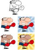 kreslených postaviček obchodník. kolekce 4