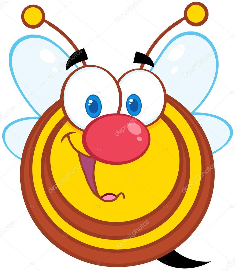 Cute Honey Bee Cartoon Mascot Character